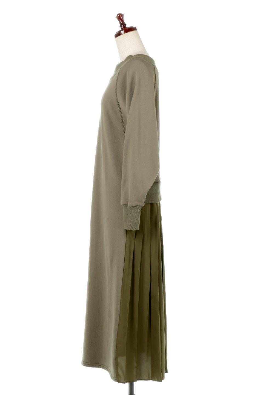 BackPleatedLongDressバックプリーツ・長袖マキシワンピース大人カジュアルに最適な海外ファッションのothers(その他インポートアイテム)のワンピースやマキシワンピース。プリーツの切り替えがとても可愛い長袖のマキシワンピース。ドルマンスリーブのゆったり感と細身のシルエットでスラっと見える大人気ワンピ。/main-7