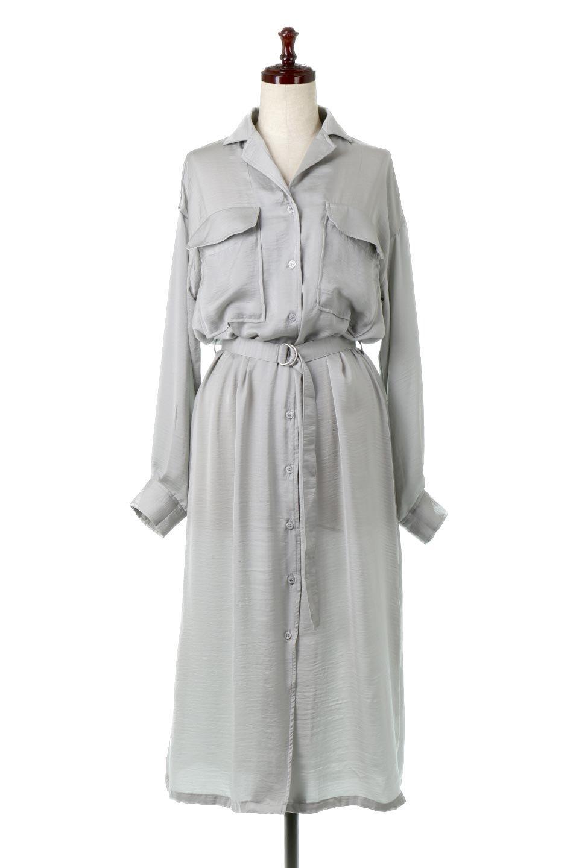 SatinLongShirtsDressビンテージサテン・ロングシャツワンピース大人カジュアルに最適な海外ファッションのothers(その他インポートアイテム)のワンピースやマキシワンピース。大き目の胸ポケットが可愛いサテン生地のロングシャツワンピース。テロテロのサテン生地が春っぽい印象で、フルオープンにしたりウエストのベルトなどで様々な着回しが楽しめます。/main-10