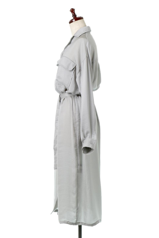 SatinLongShirtsDressビンテージサテン・ロングシャツワンピース大人カジュアルに最適な海外ファッションのothers(その他インポートアイテム)のワンピースやマキシワンピース。大き目の胸ポケットが可愛いサテン生地のロングシャツワンピース。テロテロのサテン生地が春っぽい印象で、フルオープンにしたりウエストのベルトなどで様々な着回しが楽しめます。/main-12