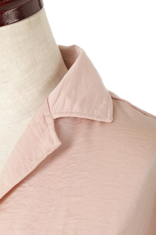 SatinLongShirtsDressビンテージサテン・ロングシャツワンピース大人カジュアルに最適な海外ファッションのothers(その他インポートアイテム)のワンピースやマキシワンピース。大き目の胸ポケットが可愛いサテン生地のロングシャツワンピース。テロテロのサテン生地が春っぽい印象で、フルオープンにしたりウエストのベルトなどで様々な着回しが楽しめます。/main-15