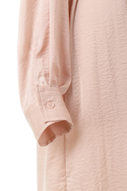 SatinLongShirtsDressビンテージサテン・ロングシャツワンピース大人カジュアルに最適な海外ファッションのothers(その他インポートアイテム)のワンピースやマキシワンピース。大き目の胸ポケットが可愛いサテン生地のロングシャツワンピース。テロテロのサテン生地が春っぽい印象で、フルオープンにしたりウエストのベルトなどで様々な着回しが楽しめます。/main-19