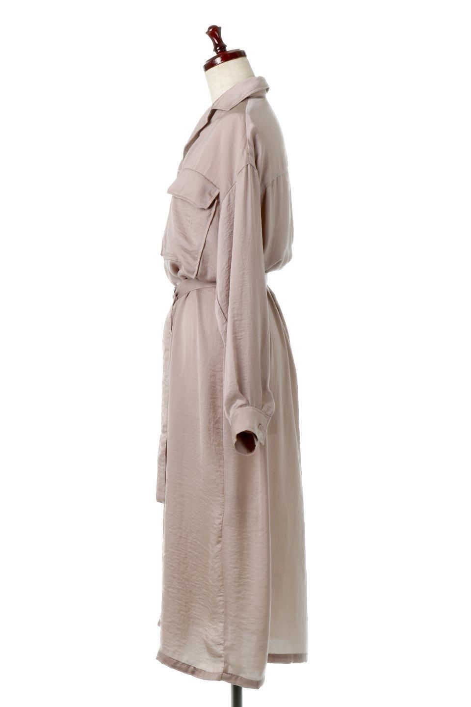 SatinLongShirtsDressビンテージサテン・ロングシャツワンピース大人カジュアルに最適な海外ファッションのothers(その他インポートアイテム)のワンピースやマキシワンピース。大き目の胸ポケットが可愛いサテン生地のロングシャツワンピース。テロテロのサテン生地が春っぽい印象で、フルオープンにしたりウエストのベルトなどで様々な着回しが楽しめます。/main-2