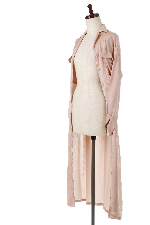 SatinLongShirtsDressビンテージサテン・ロングシャツワンピース大人カジュアルに最適な海外ファッションのothers(その他インポートアイテム)のワンピースやマキシワンピース。大き目の胸ポケットが可愛いサテン生地のロングシャツワンピース。テロテロのサテン生地が春っぽい印象で、フルオープンにしたりウエストのベルトなどで様々な着回しが楽しめます。/main-22