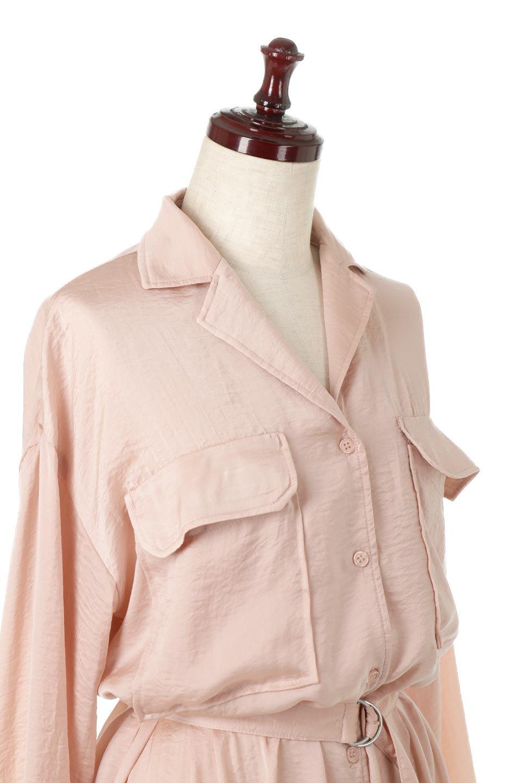 SatinLongShirtsDressビンテージサテン・ロングシャツワンピース大人カジュアルに最適な海外ファッションのothers(その他インポートアイテム)のワンピースやマキシワンピース。大き目の胸ポケットが可愛いサテン生地のロングシャツワンピース。テロテロのサテン生地が春っぽい印象で、フルオープンにしたりウエストのベルトなどで様々な着回しが楽しめます。/main-23