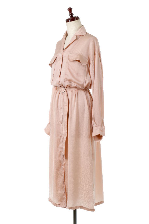 SatinLongShirtsDressビンテージサテン・ロングシャツワンピース大人カジュアルに最適な海外ファッションのothers(その他インポートアイテム)のワンピースやマキシワンピース。大き目の胸ポケットが可愛いサテン生地のロングシャツワンピース。テロテロのサテン生地が春っぽい印象で、フルオープンにしたりウエストのベルトなどで様々な着回しが楽しめます。/main-6