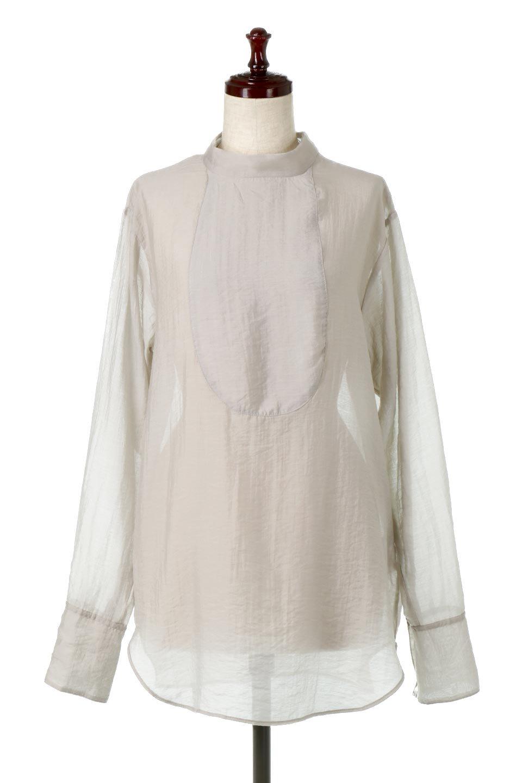 SheerPoplinBosomBlouseシアーポプリン・ブザムブラウス大人カジュアルに最適な海外ファッションのothers(その他インポートアイテム)のトップスやシャツ・ブラウス。胸元の切り替えが特徴的な長袖のブザムブラウス。透け感が人気のポプリン素材を使用したのブラウスです。/main-10