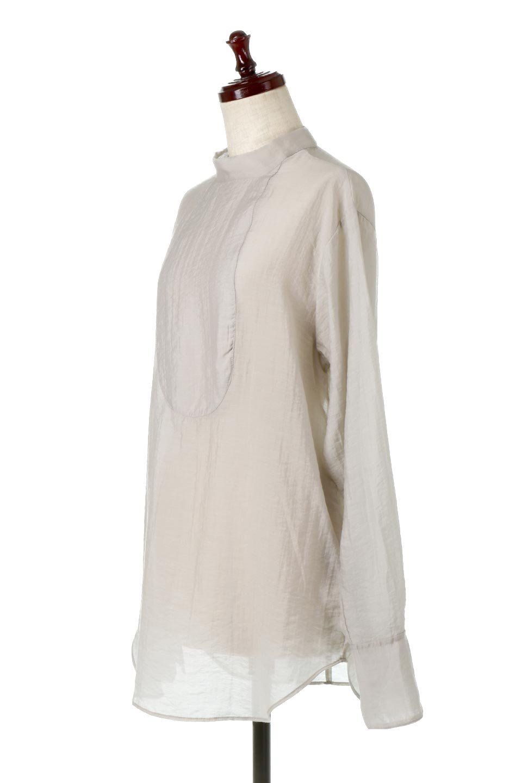SheerPoplinBosomBlouseシアーポプリン・ブザムブラウス大人カジュアルに最適な海外ファッションのothers(その他インポートアイテム)のトップスやシャツ・ブラウス。胸元の切り替えが特徴的な長袖のブザムブラウス。透け感が人気のポプリン素材を使用したのブラウスです。/main-11