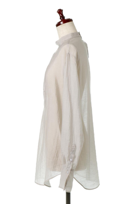 SheerPoplinBosomBlouseシアーポプリン・ブザムブラウス大人カジュアルに最適な海外ファッションのothers(その他インポートアイテム)のトップスやシャツ・ブラウス。胸元の切り替えが特徴的な長袖のブザムブラウス。透け感が人気のポプリン素材を使用したのブラウスです。/main-12