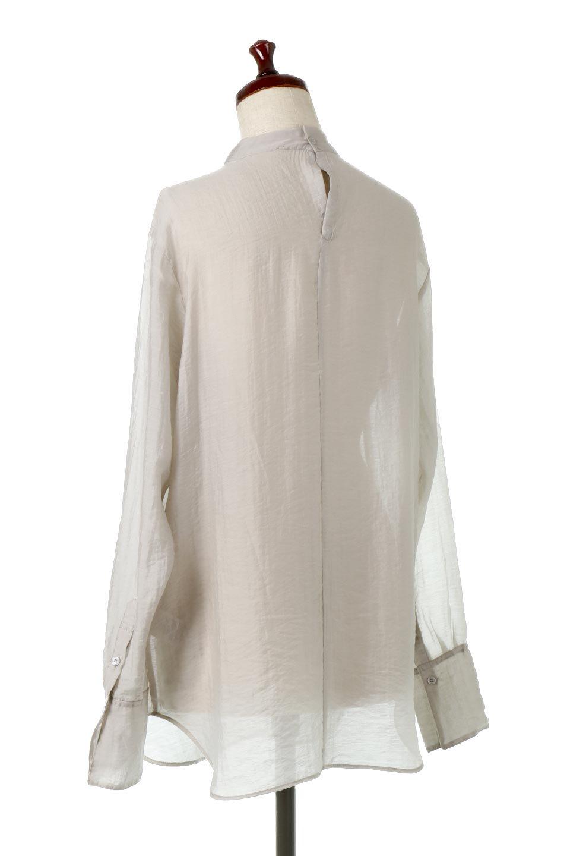 SheerPoplinBosomBlouseシアーポプリン・ブザムブラウス大人カジュアルに最適な海外ファッションのothers(その他インポートアイテム)のトップスやシャツ・ブラウス。胸元の切り替えが特徴的な長袖のブザムブラウス。透け感が人気のポプリン素材を使用したのブラウスです。/main-13