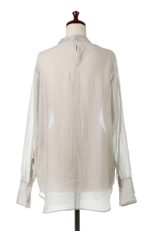 SheerPoplinBosomBlouseシアーポプリン・ブザムブラウス大人カジュアルに最適な海外ファッションのothers(その他インポートアイテム)のトップスやシャツ・ブラウス。胸元の切り替えが特徴的な長袖のブザムブラウス。透け感が人気のポプリン素材を使用したのブラウスです。/main-14
