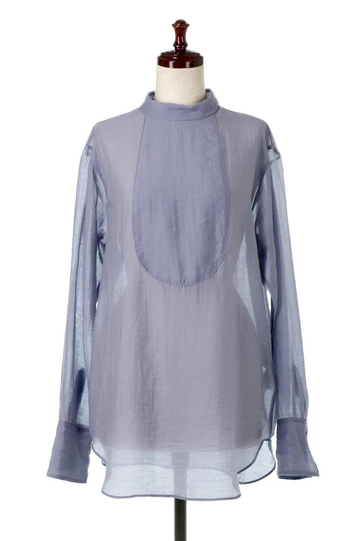 SheerPoplinBosomBlouseシアーポプリン・ブザムブラウス大人カジュアルに最適な海外ファッションのothers(その他インポートアイテム)のトップスやシャツ・ブラウス。胸元の切り替えが特徴的な長袖のブザムブラウス。透け感が人気のポプリン素材を使用したのブラウスです。/main-15