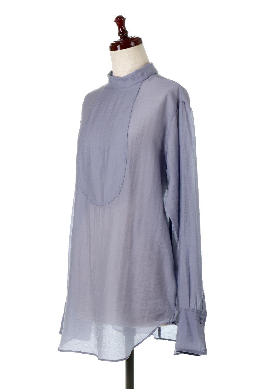 SheerPoplinBosomBlouseシアーポプリン・ブザムブラウス大人カジュアルに最適な海外ファッションのothers(その他インポートアイテム)のトップスやシャツ・ブラウス。胸元の切り替えが特徴的な長袖のブザムブラウス。透け感が人気のポプリン素材を使用したのブラウスです。/main-16