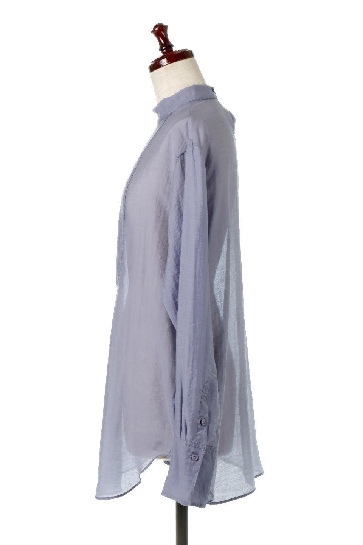 SheerPoplinBosomBlouseシアーポプリン・ブザムブラウス大人カジュアルに最適な海外ファッションのothers(その他インポートアイテム)のトップスやシャツ・ブラウス。胸元の切り替えが特徴的な長袖のブザムブラウス。透け感が人気のポプリン素材を使用したのブラウスです。/main-17