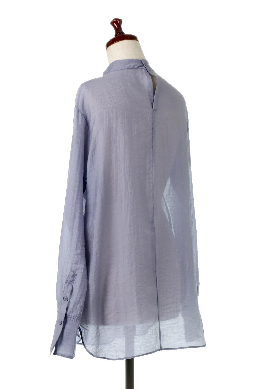 SheerPoplinBosomBlouseシアーポプリン・ブザムブラウス大人カジュアルに最適な海外ファッションのothers(その他インポートアイテム)のトップスやシャツ・ブラウス。胸元の切り替えが特徴的な長袖のブザムブラウス。透け感が人気のポプリン素材を使用したのブラウスです。/main-18