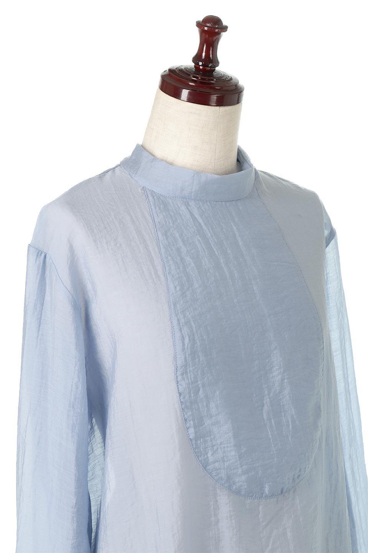 SheerPoplinBosomBlouseシアーポプリン・ブザムブラウス大人カジュアルに最適な海外ファッションのothers(その他インポートアイテム)のトップスやシャツ・ブラウス。胸元の切り替えが特徴的な長袖のブザムブラウス。透け感が人気のポプリン素材を使用したのブラウスです。/main-20