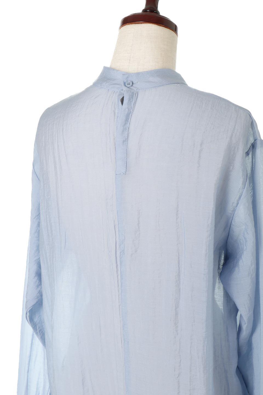 SheerPoplinBosomBlouseシアーポプリン・ブザムブラウス大人カジュアルに最適な海外ファッションのothers(その他インポートアイテム)のトップスやシャツ・ブラウス。胸元の切り替えが特徴的な長袖のブザムブラウス。透け感が人気のポプリン素材を使用したのブラウスです。/main-21
