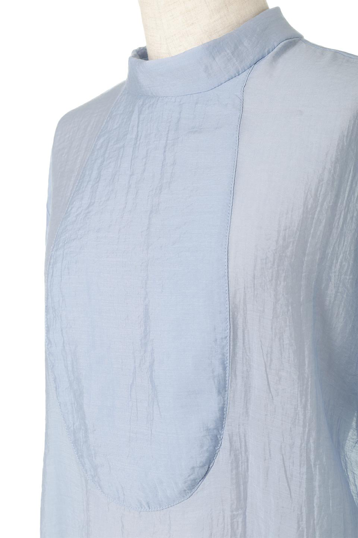 SheerPoplinBosomBlouseシアーポプリン・ブザムブラウス大人カジュアルに最適な海外ファッションのothers(その他インポートアイテム)のトップスやシャツ・ブラウス。胸元の切り替えが特徴的な長袖のブザムブラウス。透け感が人気のポプリン素材を使用したのブラウスです。/main-22