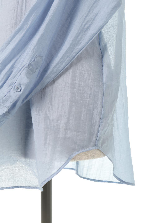 SheerPoplinBosomBlouseシアーポプリン・ブザムブラウス大人カジュアルに最適な海外ファッションのothers(その他インポートアイテム)のトップスやシャツ・ブラウス。胸元の切り替えが特徴的な長袖のブザムブラウス。透け感が人気のポプリン素材を使用したのブラウスです。/main-23