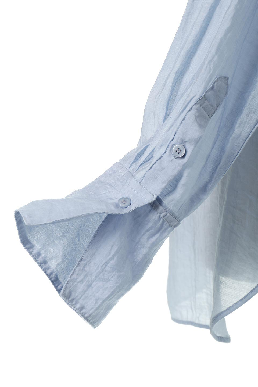SheerPoplinBosomBlouseシアーポプリン・ブザムブラウス大人カジュアルに最適な海外ファッションのothers(その他インポートアイテム)のトップスやシャツ・ブラウス。胸元の切り替えが特徴的な長袖のブザムブラウス。透け感が人気のポプリン素材を使用したのブラウスです。/main-25