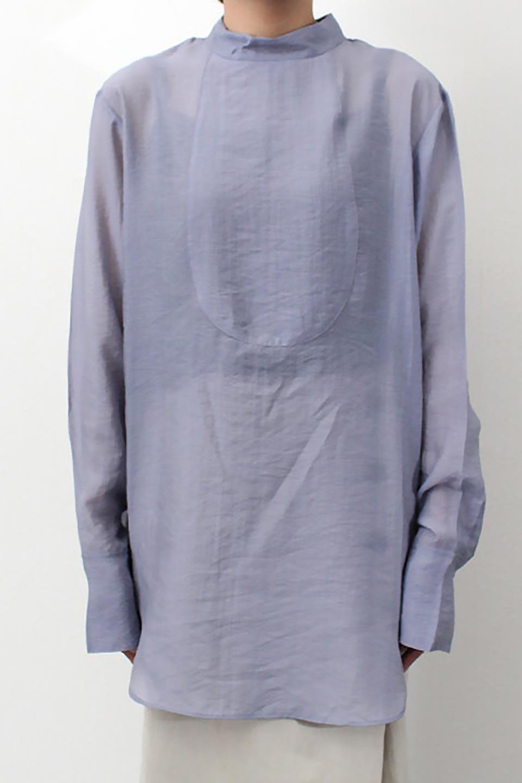 SheerPoplinBosomBlouseシアーポプリン・ブザムブラウス大人カジュアルに最適な海外ファッションのothers(その他インポートアイテム)のトップスやシャツ・ブラウス。胸元の切り替えが特徴的な長袖のブザムブラウス。透け感が人気のポプリン素材を使用したのブラウスです。/main-29