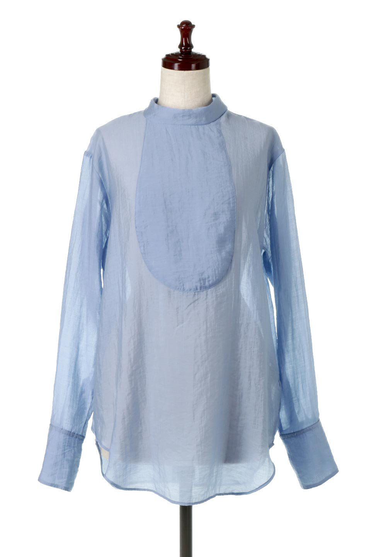 SheerPoplinBosomBlouseシアーポプリン・ブザムブラウス大人カジュアルに最適な海外ファッションのothers(その他インポートアイテム)のトップスやシャツ・ブラウス。胸元の切り替えが特徴的な長袖のブザムブラウス。透け感が人気のポプリン素材を使用したのブラウスです。/main-5