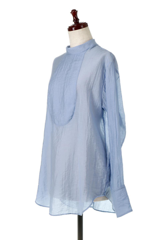 SheerPoplinBosomBlouseシアーポプリン・ブザムブラウス大人カジュアルに最適な海外ファッションのothers(その他インポートアイテム)のトップスやシャツ・ブラウス。胸元の切り替えが特徴的な長袖のブザムブラウス。透け感が人気のポプリン素材を使用したのブラウスです。/main-6