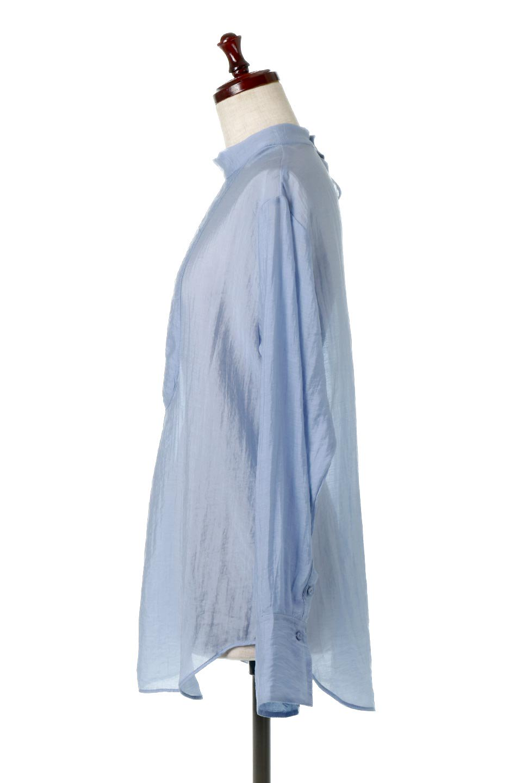 SheerPoplinBosomBlouseシアーポプリン・ブザムブラウス大人カジュアルに最適な海外ファッションのothers(その他インポートアイテム)のトップスやシャツ・ブラウス。胸元の切り替えが特徴的な長袖のブザムブラウス。透け感が人気のポプリン素材を使用したのブラウスです。/main-7