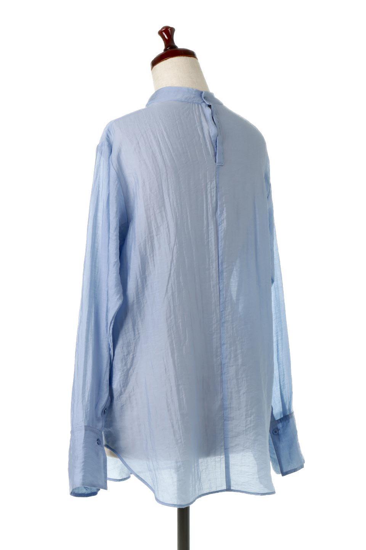 SheerPoplinBosomBlouseシアーポプリン・ブザムブラウス大人カジュアルに最適な海外ファッションのothers(その他インポートアイテム)のトップスやシャツ・ブラウス。胸元の切り替えが特徴的な長袖のブザムブラウス。透け感が人気のポプリン素材を使用したのブラウスです。/main-8
