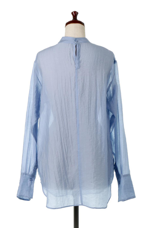 SheerPoplinBosomBlouseシアーポプリン・ブザムブラウス大人カジュアルに最適な海外ファッションのothers(その他インポートアイテム)のトップスやシャツ・ブラウス。胸元の切り替えが特徴的な長袖のブザムブラウス。透け感が人気のポプリン素材を使用したのブラウスです。/main-9