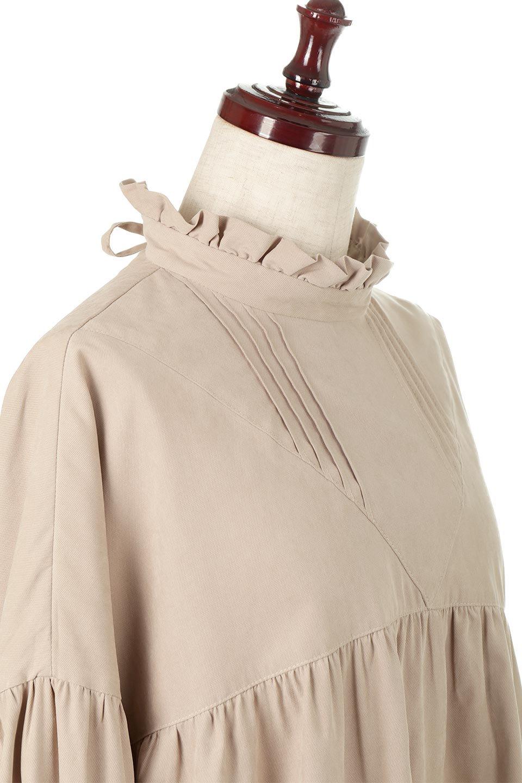 StandCollarTieBackBlouseスタンドカラー・リボンバックブラウス大人カジュアルに最適な海外ファッションのothers(その他インポートアイテム)のトップスやシャツ・ブラウス。各所にギャザーをあしらったビッグサイズブラウス。ギャザーのスタンドカラーと背中のリボンが目を引くブラウスです。/main-20