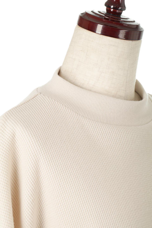 DolmanSleeveTieWaistWaffleTopドルマンスリーブ・ワッフルトップス大人カジュアルに最適な海外ファッションのothers(その他インポートアイテム)のトップスやカットソー。春に活躍するワッフル素材のカットソー。シャツより厚くスウェットより薄い生地感でまだ肌寒い春先にぴったりのアイテムです。/main-15