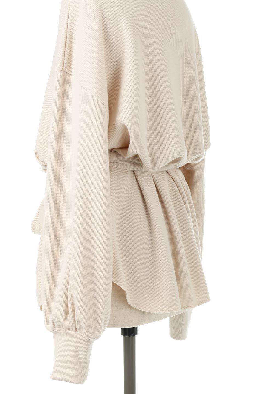 DolmanSleeveTieWaistWaffleTopドルマンスリーブ・ワッフルトップス大人カジュアルに最適な海外ファッションのothers(その他インポートアイテム)のトップスやカットソー。春に活躍するワッフル素材のカットソー。シャツより厚くスウェットより薄い生地感でまだ肌寒い春先にぴったりのアイテムです。/main-19
