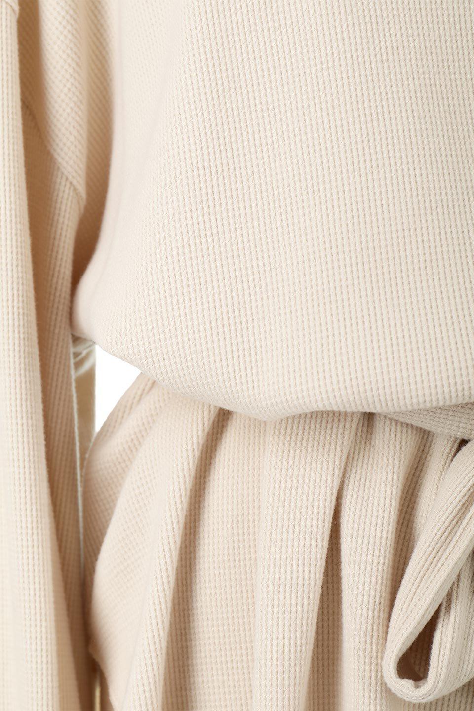 DolmanSleeveTieWaistWaffleTopドルマンスリーブ・ワッフルトップス大人カジュアルに最適な海外ファッションのothers(その他インポートアイテム)のトップスやカットソー。春に活躍するワッフル素材のカットソー。シャツより厚くスウェットより薄い生地感でまだ肌寒い春先にぴったりのアイテムです。/main-20