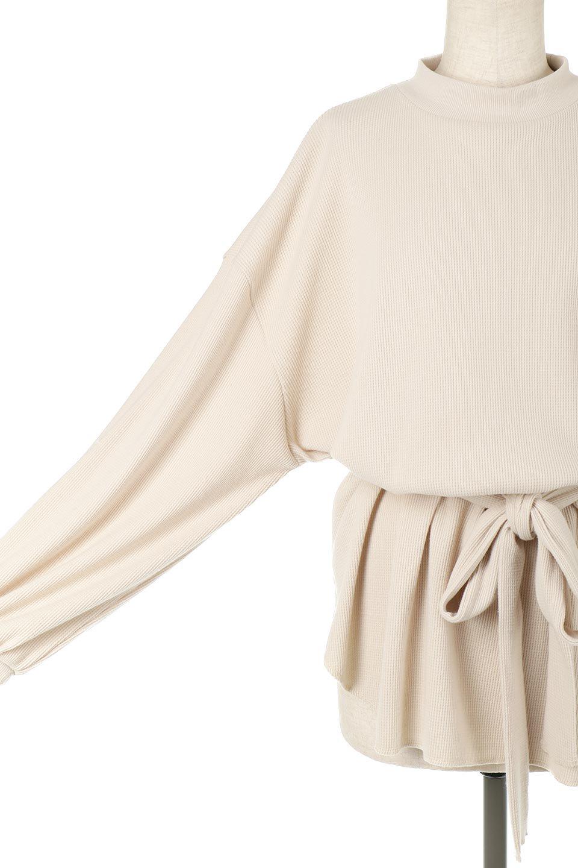 DolmanSleeveTieWaistWaffleTopドルマンスリーブ・ワッフルトップス大人カジュアルに最適な海外ファッションのothers(その他インポートアイテム)のトップスやカットソー。春に活躍するワッフル素材のカットソー。シャツより厚くスウェットより薄い生地感でまだ肌寒い春先にぴったりのアイテムです。/main-23