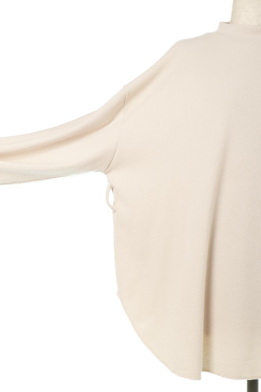 DolmanSleeveTieWaistWaffleTopドルマンスリーブ・ワッフルトップス大人カジュアルに最適な海外ファッションのothers(その他インポートアイテム)のトップスやカットソー。春に活躍するワッフル素材のカットソー。シャツより厚くスウェットより薄い生地感でまだ肌寒い春先にぴったりのアイテムです。/main-24