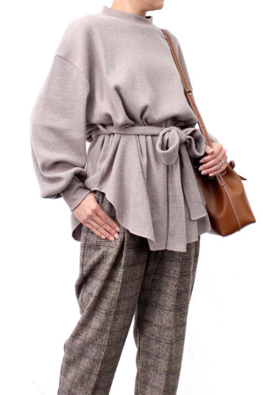 DolmanSleeveTieWaistWaffleTopドルマンスリーブ・ワッフルトップス大人カジュアルに最適な海外ファッションのothers(その他インポートアイテム)のトップスやカットソー。春に活躍するワッフル素材のカットソー。シャツより厚くスウェットより薄い生地感でまだ肌寒い春先にぴったりのアイテムです。/main-27