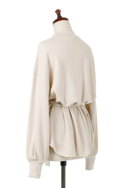 DolmanSleeveTieWaistWaffleTopドルマンスリーブ・ワッフルトップス大人カジュアルに最適な海外ファッションのothers(その他インポートアイテム)のトップスやカットソー。春に活躍するワッフル素材のカットソー。シャツより厚くスウェットより薄い生地感でまだ肌寒い春先にぴったりのアイテムです。/main-3