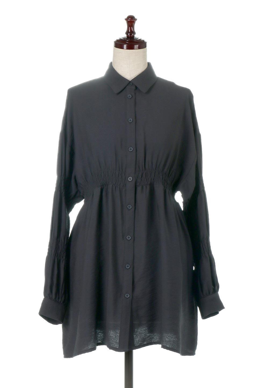 GatheredSleeveLongBlouseギャザースリーブ・ロングブラウス大人カジュアルに最適な海外ファッションのothers(その他インポートアイテム)のトップスやシャツ・ブラウス。各所のギャザーが可愛い長袖のシャツブラウス。長めの着丈と細見え効果が期待できるウエストのギャザーで、気になるボディラインのカバーにもピッタリ。/main-15