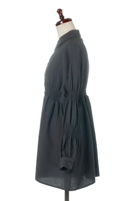 GatheredSleeveLongBlouseギャザースリーブ・ロングブラウス大人カジュアルに最適な海外ファッションのothers(その他インポートアイテム)のトップスやシャツ・ブラウス。各所のギャザーが可愛い長袖のシャツブラウス。長めの着丈と細見え効果が期待できるウエストのギャザーで、気になるボディラインのカバーにもピッタリ。/main-17