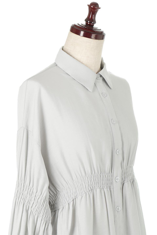 GatheredSleeveLongBlouseギャザースリーブ・ロングブラウス大人カジュアルに最適な海外ファッションのothers(その他インポートアイテム)のトップスやシャツ・ブラウス。各所のギャザーが可愛い長袖のシャツブラウス。長めの着丈と細見え効果が期待できるウエストのギャザーで、気になるボディラインのカバーにもピッタリ。/main-20