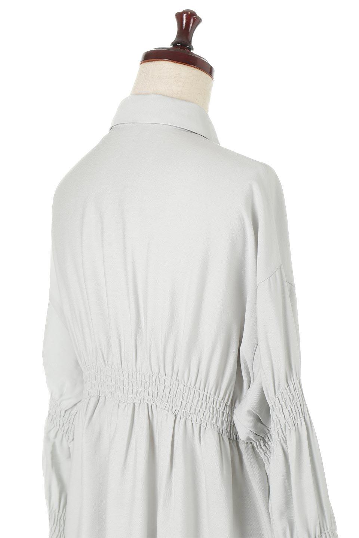 GatheredSleeveLongBlouseギャザースリーブ・ロングブラウス大人カジュアルに最適な海外ファッションのothers(その他インポートアイテム)のトップスやシャツ・ブラウス。各所のギャザーが可愛い長袖のシャツブラウス。長めの着丈と細見え効果が期待できるウエストのギャザーで、気になるボディラインのカバーにもピッタリ。/main-21