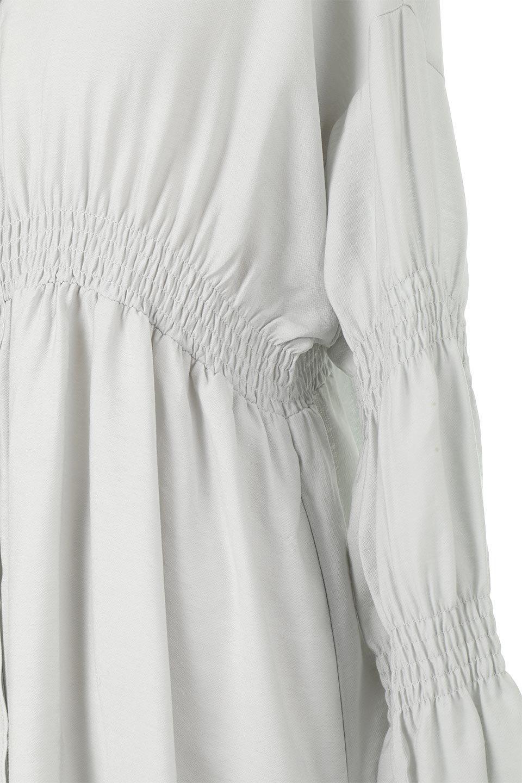GatheredSleeveLongBlouseギャザースリーブ・ロングブラウス大人カジュアルに最適な海外ファッションのothers(その他インポートアイテム)のトップスやシャツ・ブラウス。各所のギャザーが可愛い長袖のシャツブラウス。長めの着丈と細見え効果が期待できるウエストのギャザーで、気になるボディラインのカバーにもピッタリ。/main-25