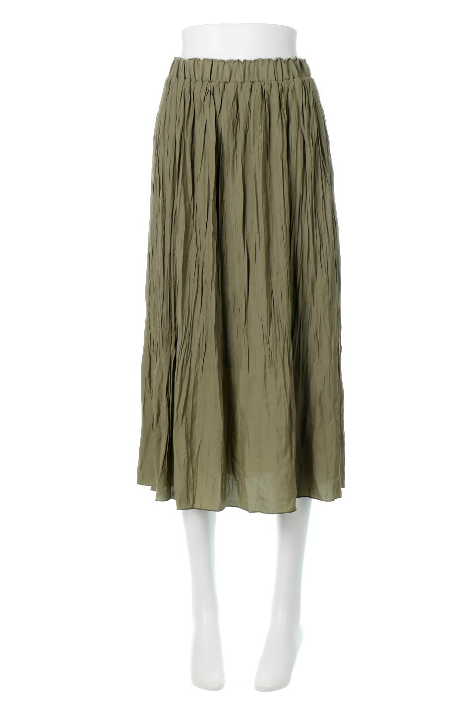 CrushPleatedLongSkirtクラッシュプリーツ・ロングスカート大人カジュアルに最適な海外ファッションのothers(その他インポートアイテム)のボトムやスカート。ヴィンテージライクなマットサテンの生地がポイントのナチュラルなプリーツスカート。生地の落ち感を利用し、生地をたっぷり使ったスカートのシルエットとボリュームを綺麗に見せるデザイン。