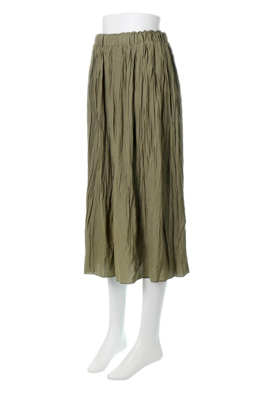 CrushPleatedLongSkirtクラッシュプリーツ・ロングスカート大人カジュアルに最適な海外ファッションのothers(その他インポートアイテム)のボトムやスカート。ヴィンテージライクなマットサテンの生地がポイントのナチュラルなプリーツスカート。生地の落ち感を利用し、生地をたっぷり使ったスカートのシルエットとボリュームを綺麗に見せるデザイン。/main-1