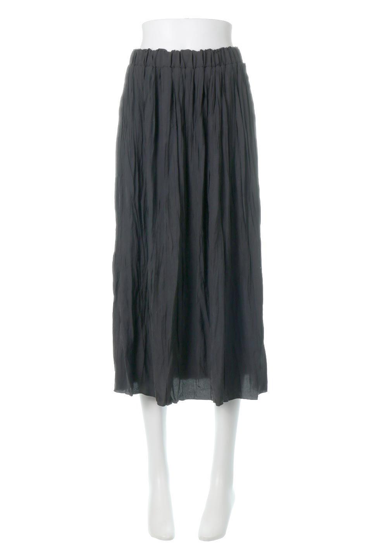 CrushPleatedLongSkirtクラッシュプリーツ・ロングスカート大人カジュアルに最適な海外ファッションのothers(その他インポートアイテム)のボトムやスカート。ヴィンテージライクなマットサテンの生地がポイントのナチュラルなプリーツスカート。生地の落ち感を利用し、生地をたっぷり使ったスカートのシルエットとボリュームを綺麗に見せるデザイン。/main-10
