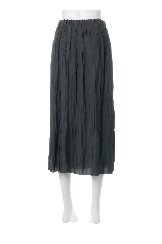 CrushPleatedLongSkirtクラッシュプリーツ・ロングスカート大人カジュアルに最適な海外ファッションのothers(その他インポートアイテム)のボトムやスカート。ヴィンテージライクなマットサテンの生地がポイントのナチュラルなプリーツスカート。生地の落ち感を利用し、生地をたっぷり使ったスカートのシルエットとボリュームを綺麗に見せるデザイン。/main-14