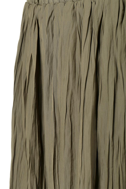 CrushPleatedLongSkirtクラッシュプリーツ・ロングスカート大人カジュアルに最適な海外ファッションのothers(その他インポートアイテム)のボトムやスカート。ヴィンテージライクなマットサテンの生地がポイントのナチュラルなプリーツスカート。生地の落ち感を利用し、生地をたっぷり使ったスカートのシルエットとボリュームを綺麗に見せるデザイン。/main-18