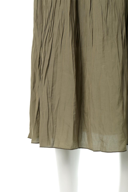 CrushPleatedLongSkirtクラッシュプリーツ・ロングスカート大人カジュアルに最適な海外ファッションのothers(その他インポートアイテム)のボトムやスカート。ヴィンテージライクなマットサテンの生地がポイントのナチュラルなプリーツスカート。生地の落ち感を利用し、生地をたっぷり使ったスカートのシルエットとボリュームを綺麗に見せるデザイン。/main-20