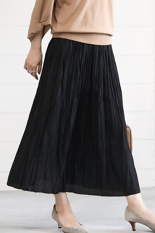 CrushPleatedLongSkirtクラッシュプリーツ・ロングスカート大人カジュアルに最適な海外ファッションのothers(その他インポートアイテム)のボトムやスカート。ヴィンテージライクなマットサテンの生地がポイントのナチュラルなプリーツスカート。生地の落ち感を利用し、生地をたっぷり使ったスカートのシルエットとボリュームを綺麗に見せるデザイン。/main-25