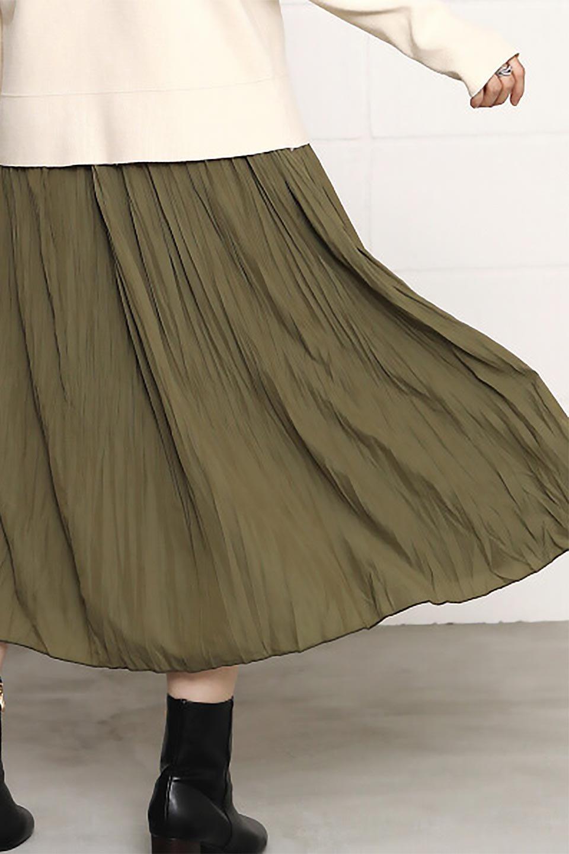 CrushPleatedLongSkirtクラッシュプリーツ・ロングスカート大人カジュアルに最適な海外ファッションのothers(その他インポートアイテム)のボトムやスカート。ヴィンテージライクなマットサテンの生地がポイントのナチュラルなプリーツスカート。生地の落ち感を利用し、生地をたっぷり使ったスカートのシルエットとボリュームを綺麗に見せるデザイン。/main-28